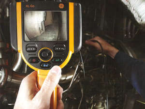 Endoscopia per turbine, riduttori, alternatori ect.