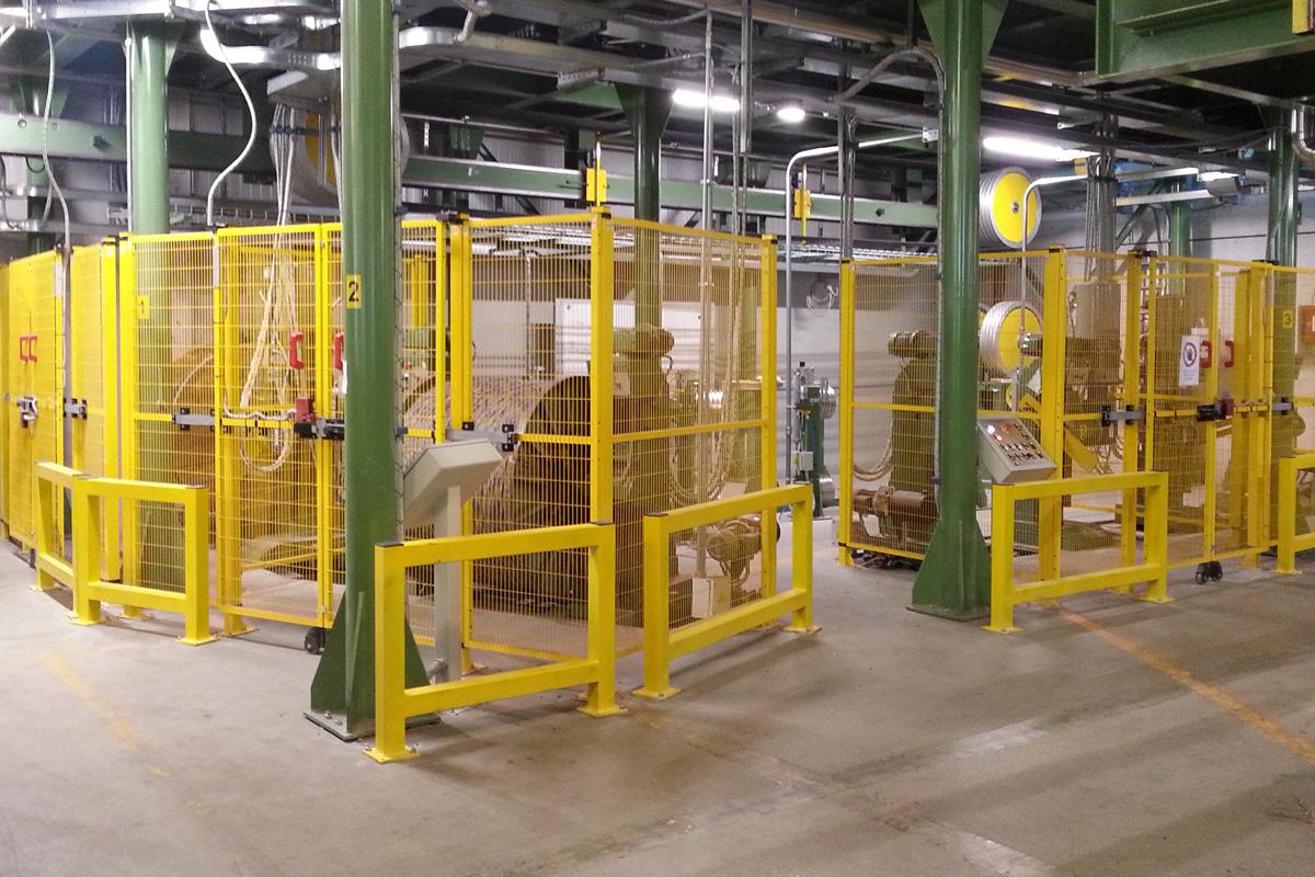 linea industriale per la realizzazione di cavi elettrici